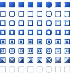 Square polygon set vector