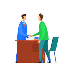 Successful negotiations agreement vector