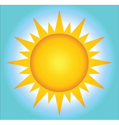 Summer Hot Sun With Background vector image