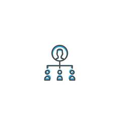 teamwork icon design marketing icon line vector image