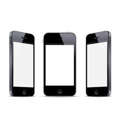 Three black smartphones vector image