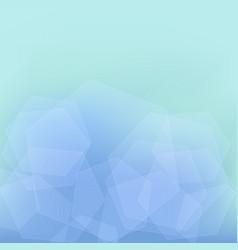 transparent hexagons vector image
