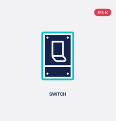 Two color switch icon from electrian connections vector