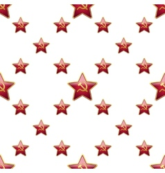 Universal badge Soviet Union stars seamless vector image