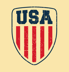 Usa shield vintage stamp vector