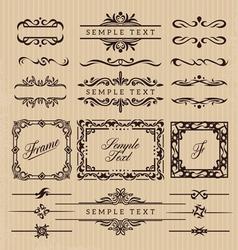 Vintage Frame Decoration vector