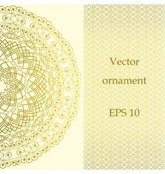 Vintage ornate card in oriental style vector image