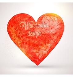 Watercolor Love Heart vector