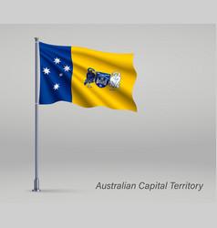Waving flag australian capital territory vector