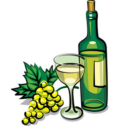 White dry wine vector