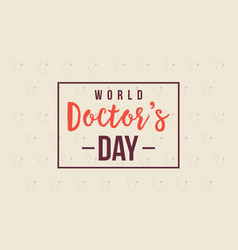 world doctor day card style collection vector image