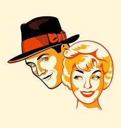 Flirting couple vector image vector image