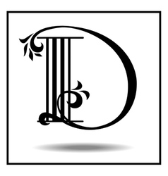 Letter D made with leaves vector image