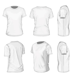 Mens white short sleeve t-shirt design templates vector