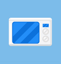 microwave isolated icon on blue background vector image