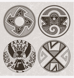 north america pueblo indians graphic art tattoo vector image