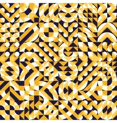 Seamless Irregular Geometric Blocks Square vector image vector image