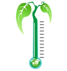 thermometer plant vector image