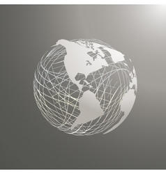 Abstract world map sphere america vector