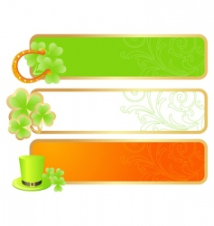 banners for St Patrick's day vector image