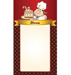 Cafe menu template vector image vector image