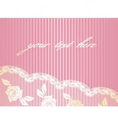 decorative lace background vector image