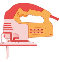 Electric Jigsaw Tool vector image vector image
