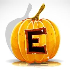 Halloween Pumpkin E vector image