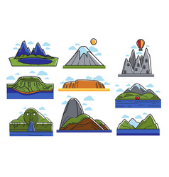 spectacular natural landscapes with high mountains vector image
