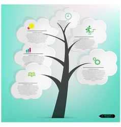 Speech Bubbles Tree vector image