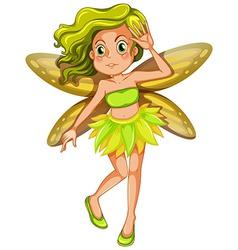 Yellow fairy vector image vector image