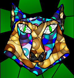 abstract head of wolf vector image vector image