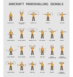 Aircraft marshalling signals vector image vector image