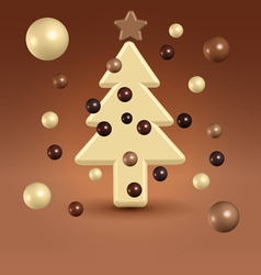 Chocolate christmas tree decorations vector image vector image