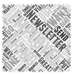 Employee newsletter word cloud concept vector