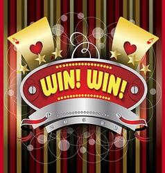 Gambling emblem vector image
