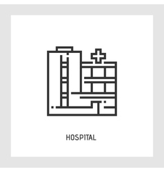 Hospital icon Flat vector image