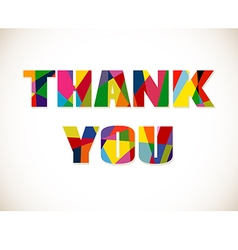 Thank you lettering with colorful letters isolated vector image vector image