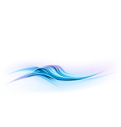 abstract shape blue wave dis vector image