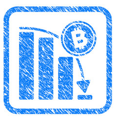 Bitcoin epic fail chart framed stamp vector