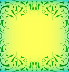 Delicate frame with curls vector image