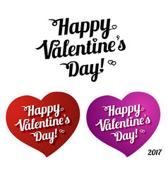 lettering - happy valentines day vector image vector image