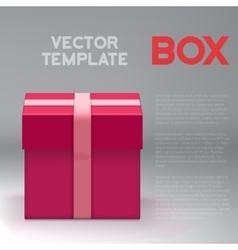 Realistic 3D Present Box Birthday vector image