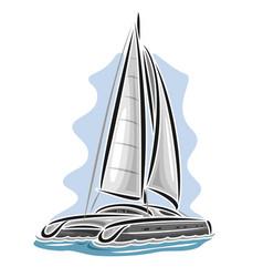 sailing catamaran vector image