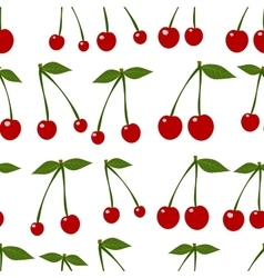 Seamless background with cherry vector image