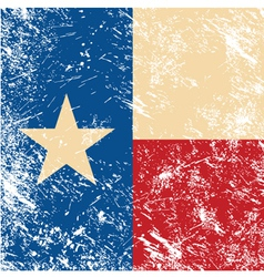 Texas retro flag vector image