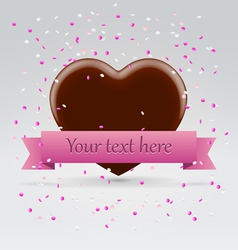 Valentines day chocolate sweet heart vector image
