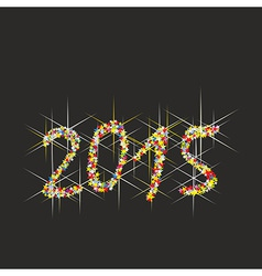 2015 new year fireworks vector