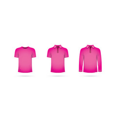 a set of pink t-shirts vector image