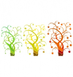 Abstract tree - set vector image
